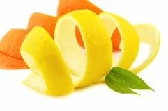 Limón y naranja foto de archivo