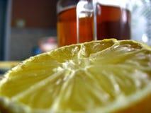 Limón y te fotografía de archivo
