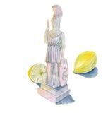 Limões de Pallas Athena ilustração do vetor