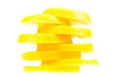 Limões desbastados Fotografia de Stock Royalty Free