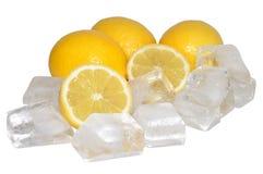Limões e gelo frescos Imagens de Stock