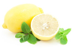 Limões e hortelã. Imagem de Stock Royalty Free