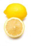 Limões em um fundo branco do estúdio. Fotos de Stock Royalty Free