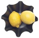 Limões em uma bacia moderna do metal Imagem de Stock