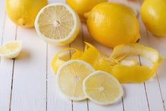 Limões frescos Foto de Stock