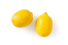 Limões frescos isolados Fotos de Stock Royalty Free
