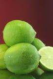 Limões frescos verdes imagens de stock