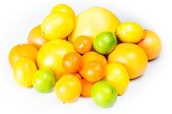 Limões, laranjas e cais Foto de Stock Royalty Free