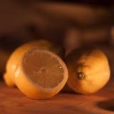 Limões na luz morna Imagem de Stock Royalty Free
