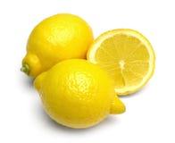 Limões no branco Fotografia de Stock Royalty Free