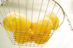 Limões prontos para ser feito na limonada espremida fresca foto de stock royalty free