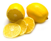 Limões suculentos maduros Imagens de Stock Royalty Free