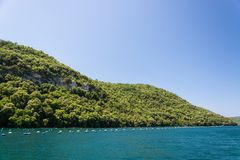 Lim-Bay, Istria, Croatia. The Lim bay and valley is a peculiar geographic feature on the western coast of Istria, Croatia stock image