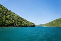 Lim-Bay, Istria, Croatia. The Lim bay and valley is a peculiar geographic feature on the western coast of Istria, Croatia stock photography
