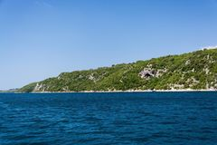 Lim-Bay, Istria, Croatia. The Lim bay and valley is a peculiar geographic feature on the western coast of Istria, Croatia royalty free stock image