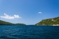 Lim-Bay, Istria, Croatia. The Lim bay and valley is a peculiar geographic feature on the western coast of Istria, Croatia royalty free stock photo