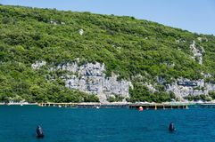 Lim-Bay, Istria, Croatia. The Lim bay and valley is a peculiar geographic feature on the western coast of Istria, Croatia royalty free stock photography