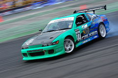 Lim Chien Wei drifting at Formula Drift 2010 Stock Photography