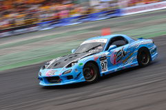 Lim Kim Wan drifting at Formula Drift 2010 Royalty Free Stock Photo