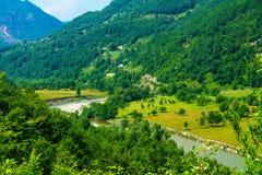 Lim River-Landschaft Lizenzfreies Stockfoto