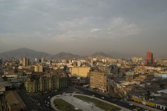 Lima. View of central square in Lima - Peru Stock Photo