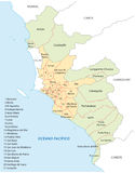 Lima administrative map Royalty Free Stock Images