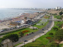 Lima bay view from Chorrillos district Stock Images