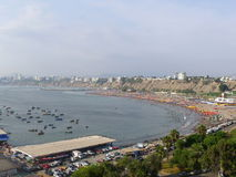 Lima beach in the bay royalty free stock photography