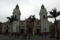 Lima cathedral Stock Images