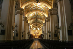 The lima cathedral Stock Photos