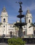 Lima Cathedral - Plaza de Armes - Lima - Peru Royaltyfria Bilder