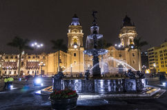 Lima Cathedral - Plaza de Armes - Lima - Peru Stock Photos