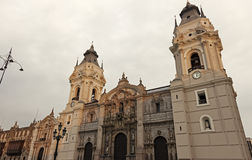 Lima Cathedral - Plaza Mayor, Lima Royalty Free Stock Photos