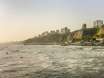 Lima City Coast imagem de stock royalty free