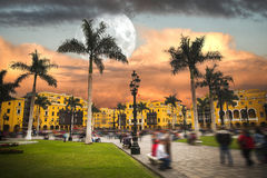Lima is a city on the Pacific coast of South America Stock Photos