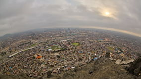 Lima Cityscape Time Lapse almacen de video