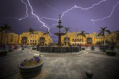 Lima ist eine Stadt auf der Pazifikküste von Südamerika Stockfoto