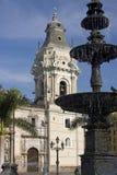 Lima Kathedraal in Peru stock foto's