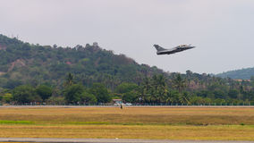 LIMA 2015 in Langkawi, Malaysia. LANGKAWI, MALAYSIA - 21ST MARCH 2015; Team France Air Force  from France with aircraft Rafale during LIMA 2015 in Langkawi Stock Photos