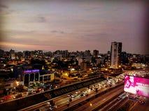 Lima nella notte della città Immagini Stock
