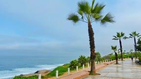 Lima, Pérou, parc dans le secteur de Miraflores images stock