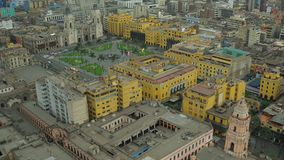 Lima Peru Aerial video estoque