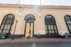 LIMA PERU - APRIL 15, 2013: Affärsområde i Lima, Peru arkivbilder