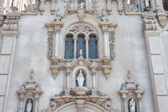 LIMA, PERU - APRIL 12, 2013: Parroquia Virgen Milagrosa Church in Lima, close to Kennedy Park Royalty Free Stock Photo