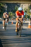 Ironman 70.3 Lima - Peru 2018. LIMA, PERU - APRIL 22th 2018: Ironman 70.3 . Athletes competing in the second stage of this great competition that is now cycling Royalty Free Stock Image