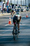 Ironman 70.3 Lima - Peru 2018. LIMA, PERU - APRIL 22th 2018: Ironman 70.3 . Athletes competing in the second stage of this great competition that is now cycling Stock Photos