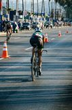 Ironman 70.3 Lima - Peru 2018. LIMA, PERU - APRIL 22th 2018: Ironman 70.3 . Athletes competing in the second stage of this great competition that is now cycling Stock Photo
