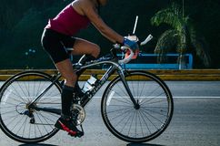 Ironman 70.3 Lima - Peru 2018. LIMA, PERU - APRIL 22th 2018: Ironman 70.3 . Athletes competing in the second stage of this great competition that is now cycling Royalty Free Stock Photo