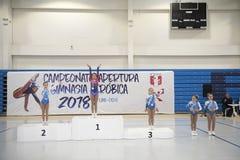 National Aerobic Gymnastics Championship. stock photography