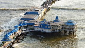 Lima, Peru Das Restaurant La Rosa Nautica gelegen auf dem Pier lizenzfreies stockfoto
